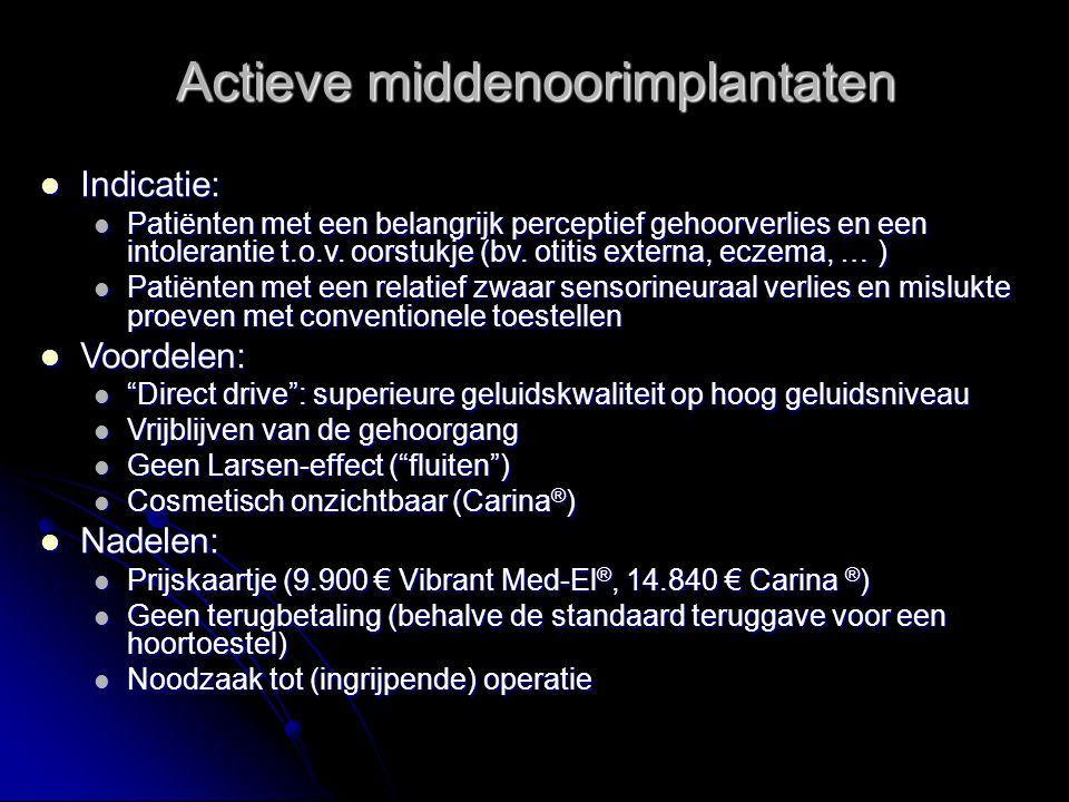 Actieve middenoorimplantaten