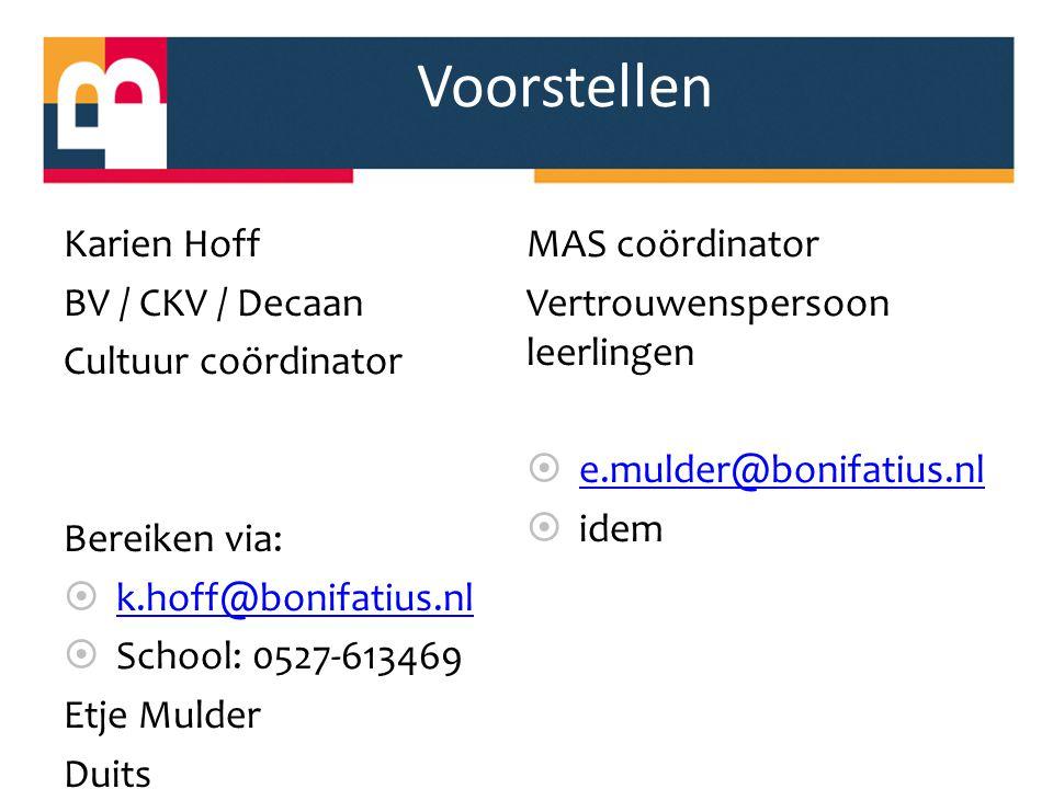 Voorstellen Duits MAS coördinator Karien Hoff BV / CKV / Decaan