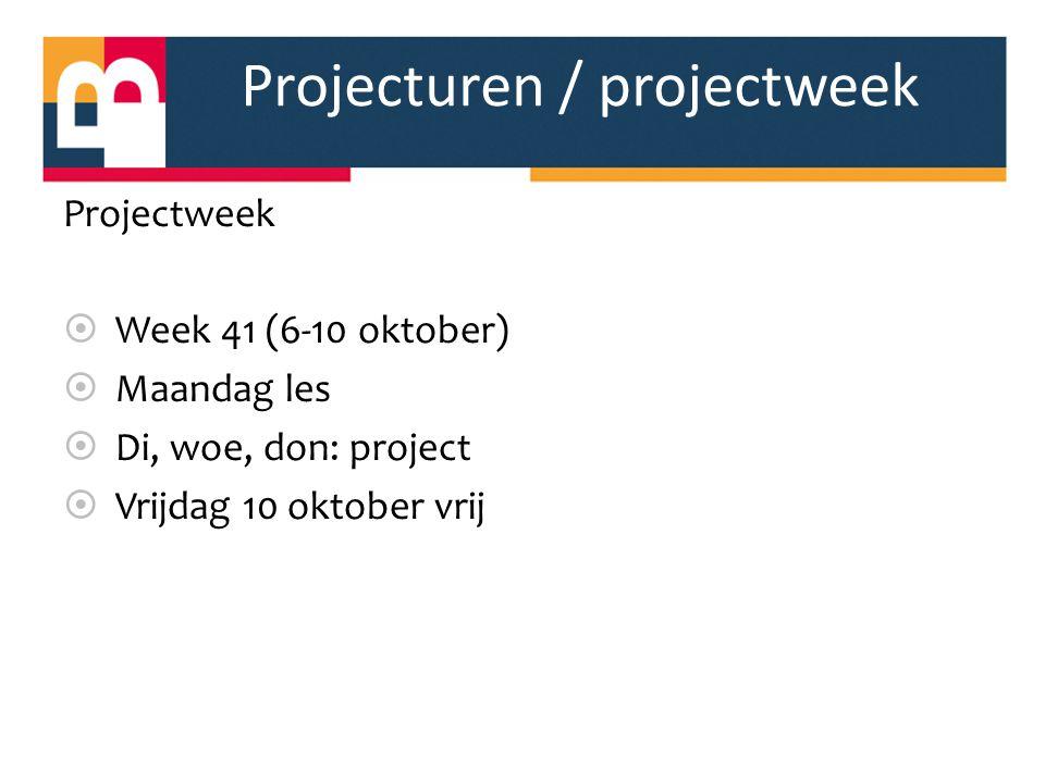 Projecturen / projectweek