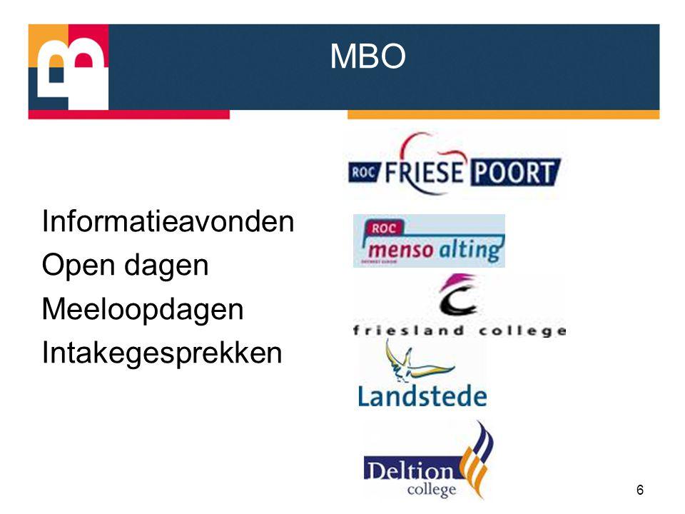 MBO Informatieavonden Open dagen Meeloopdagen Intakegesprekken