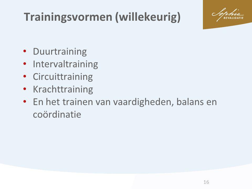 Trainingsvormen (willekeurig)