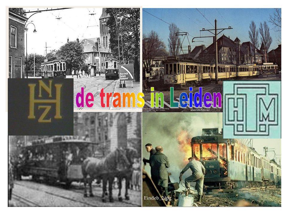 de trams in Leiden De logo's van de twee concurerende trammaatschappijen