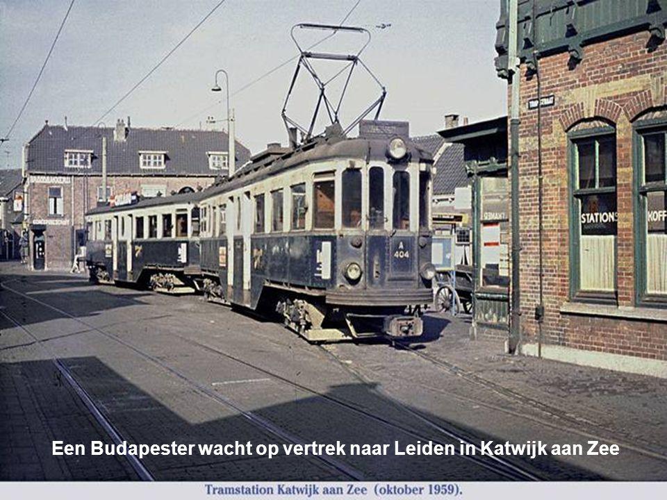 Een Budapester wacht op vertrek naar Leiden in Katwijk aan Zee