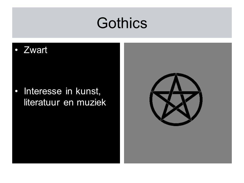 Gothics Zwart Interesse in kunst, literatuur en muziek