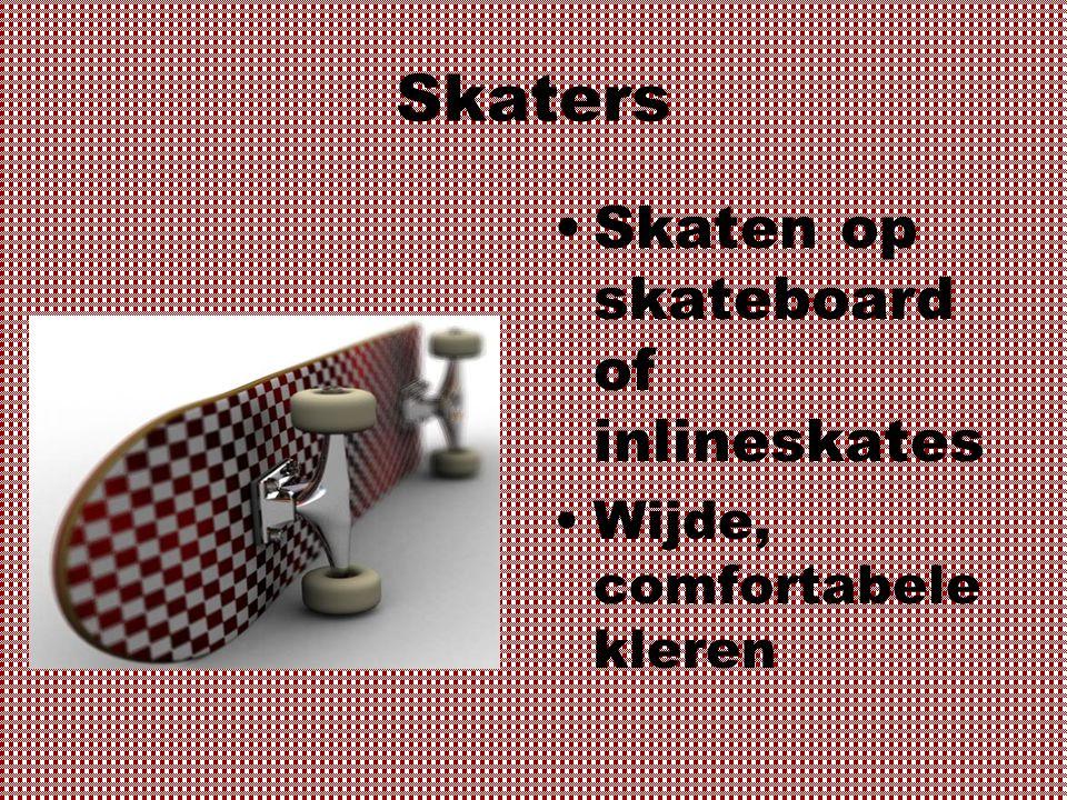 Skaters Skaten op skateboard of inlineskates