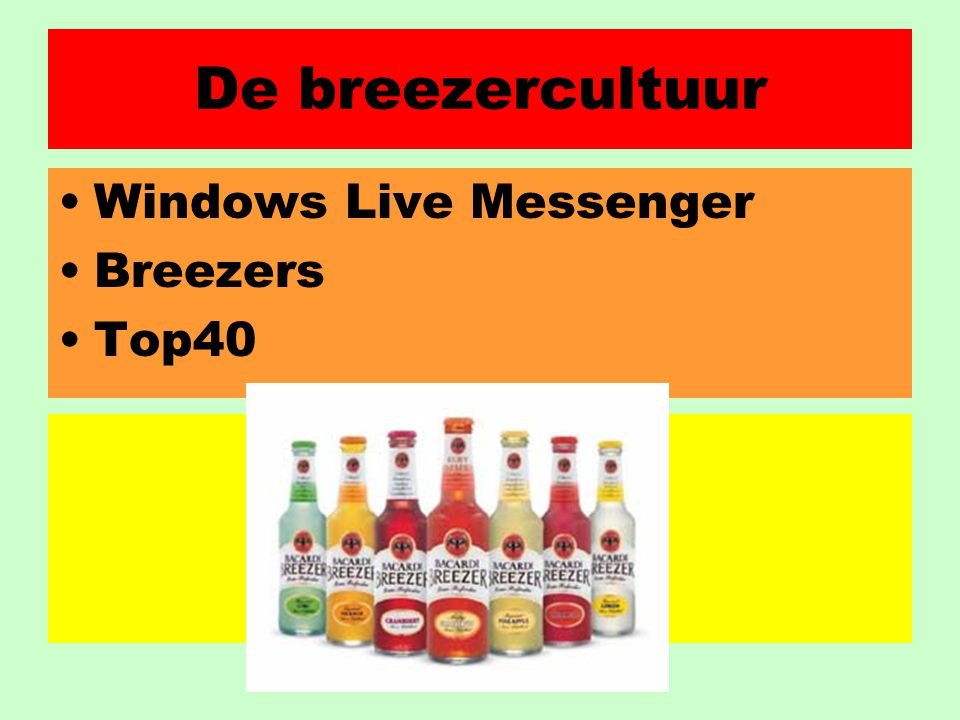 De breezercultuur Windows Live Messenger Breezers Top40