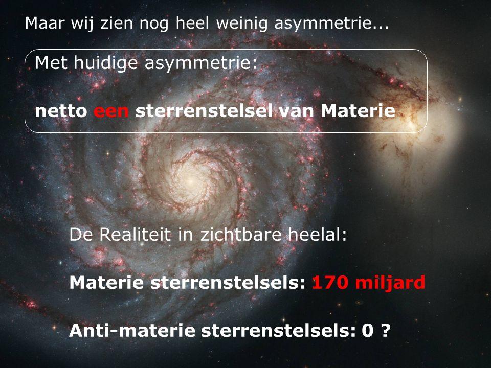 Met huidige asymmetrie: netto een sterrenstelsel van Materie