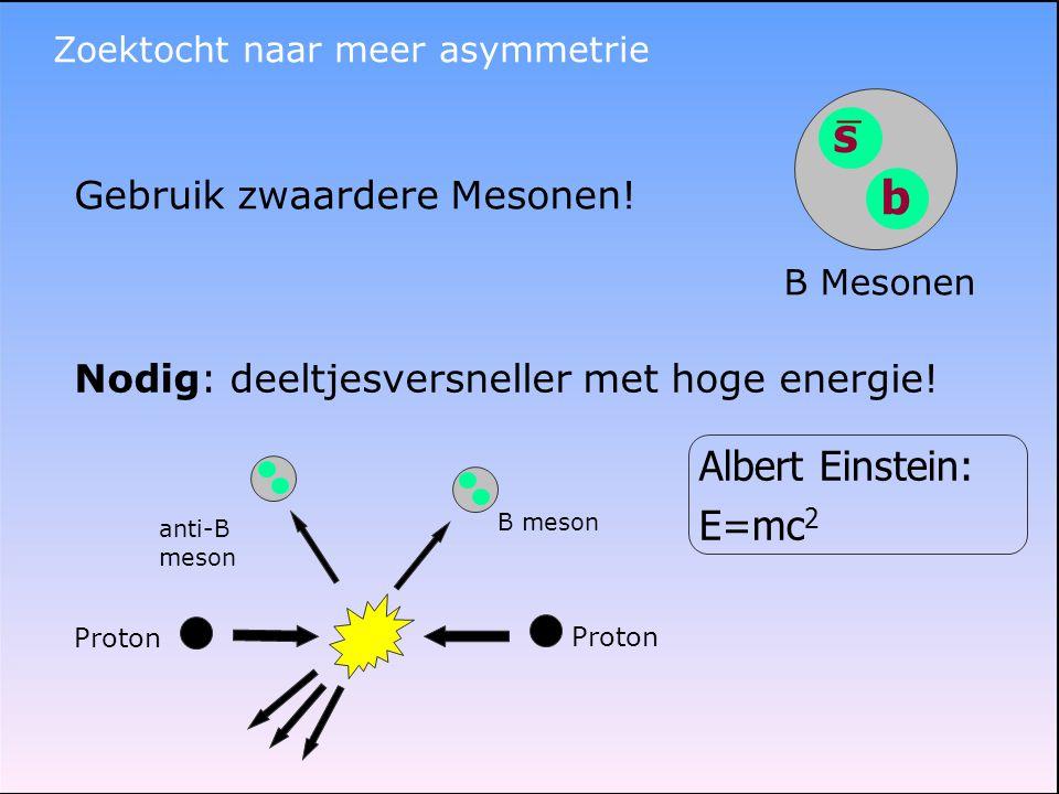 s b Albert Einstein: E=mc2 _ Gebruik zwaardere Mesonen!