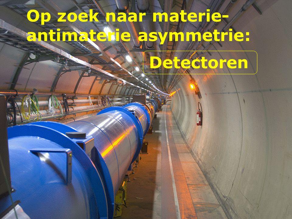 Op zoek naar materie- antimaterie asymmetrie: