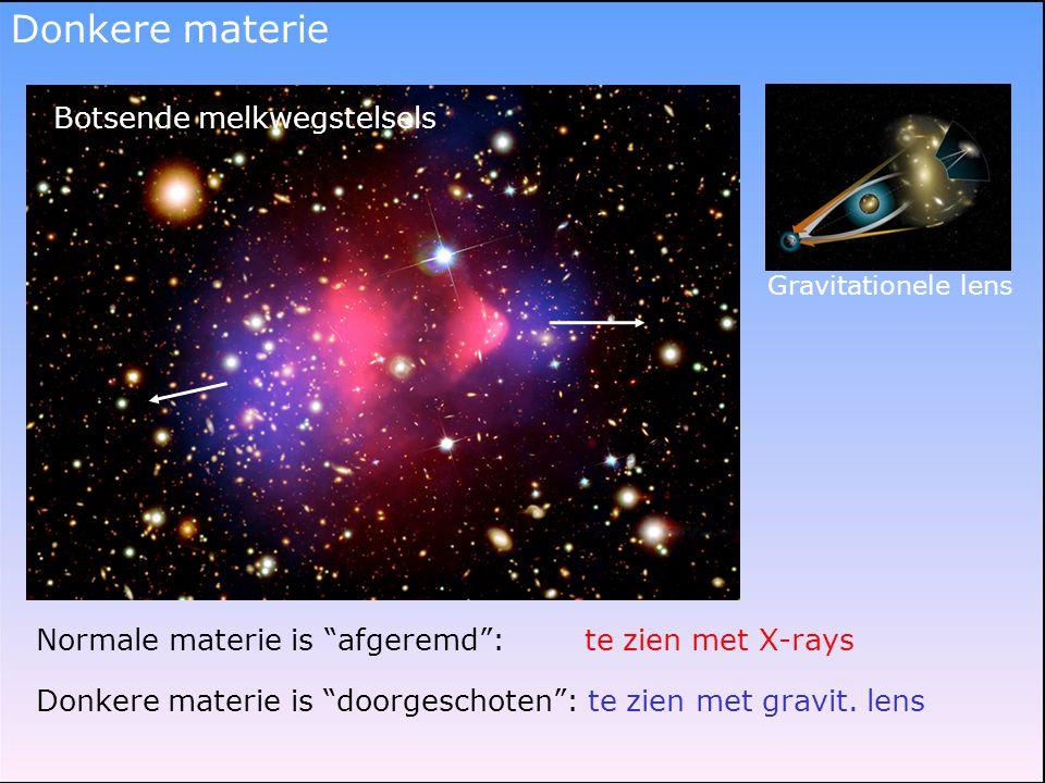 Donkere materie Botsende melkwegstelsels