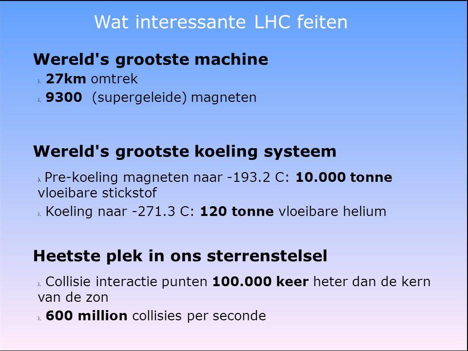 Wat interessante LHC feiten