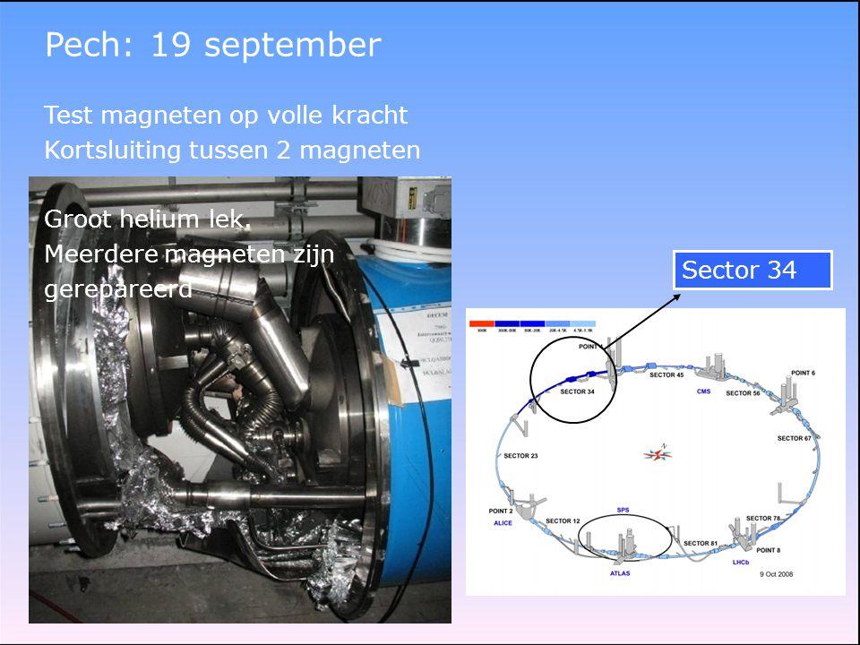 Pech: 19 september Test magneten op volle kracht