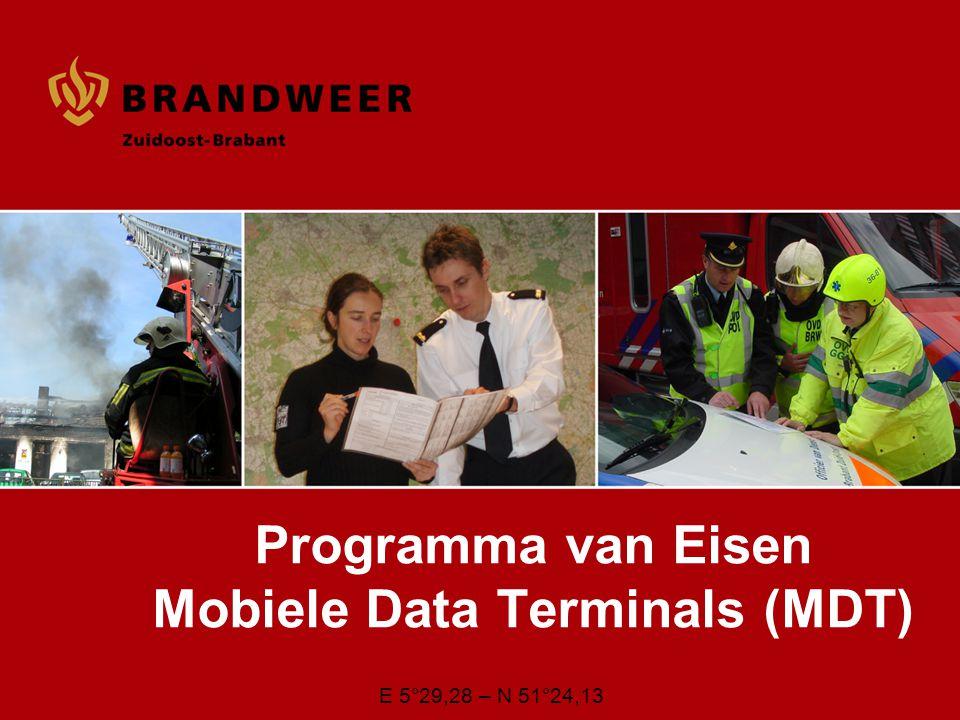 Programma van Eisen Mobiele Data Terminals (MDT)