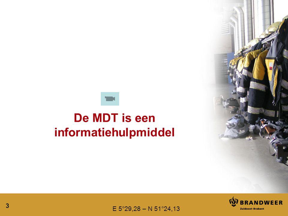 De MDT is een informatiehulpmiddel