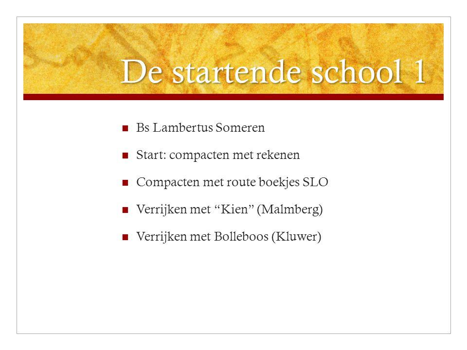 De startende school 1 Bs Lambertus Someren