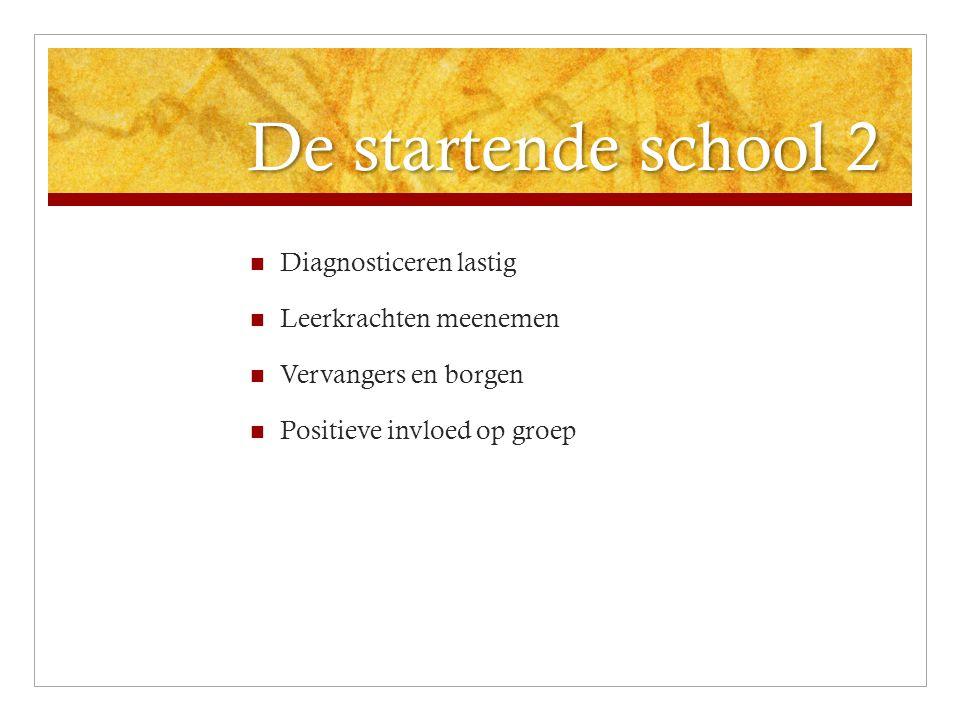 De startende school 2 Diagnosticeren lastig Leerkrachten meenemen