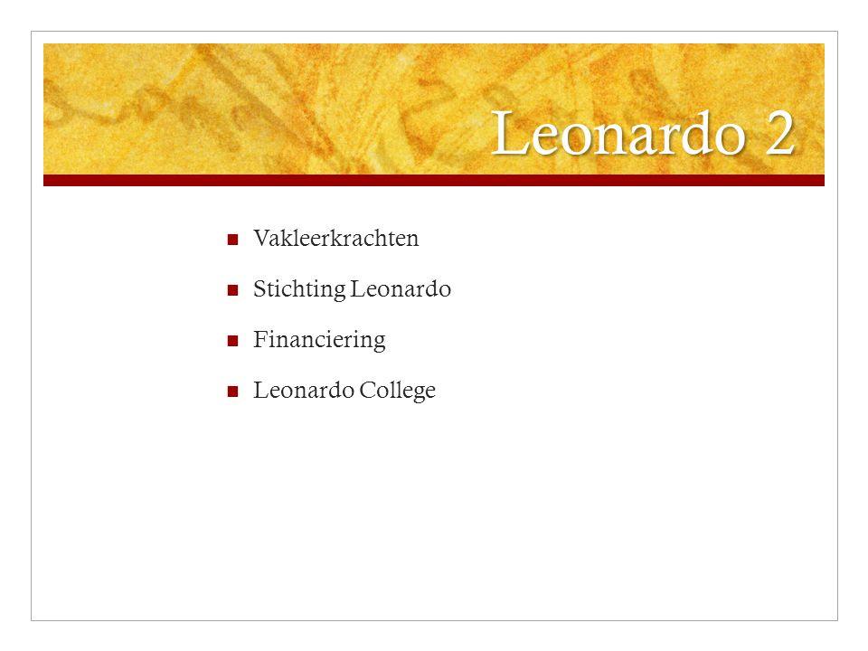 Leonardo 2 Vakleerkrachten Stichting Leonardo Financiering