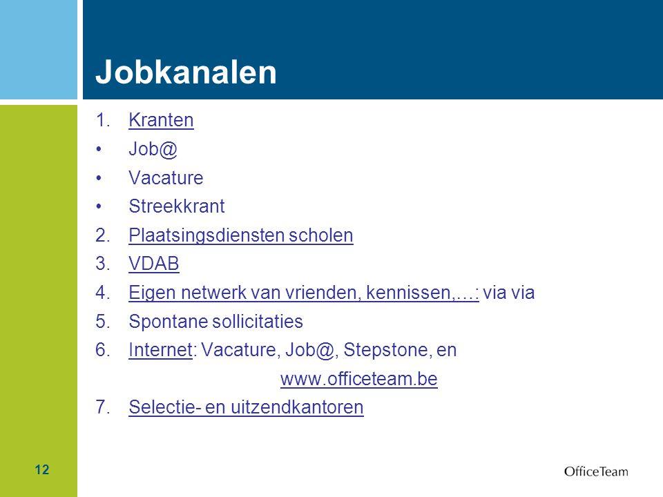 Jobkanalen Kranten Job@ Vacature Streekkrant