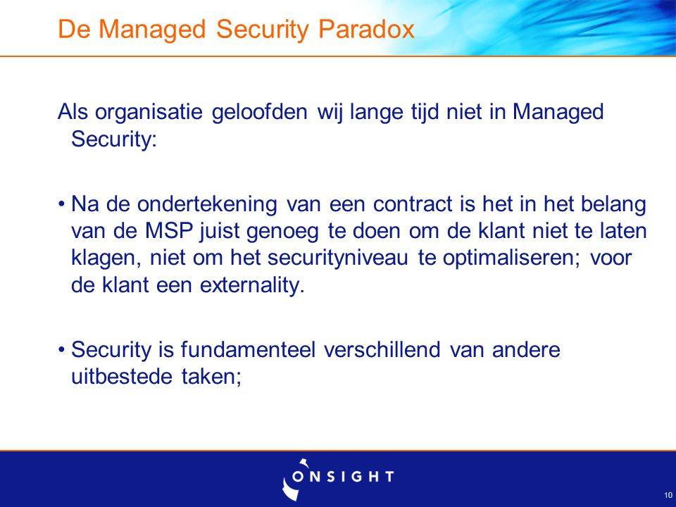 The Managed Security Paradox