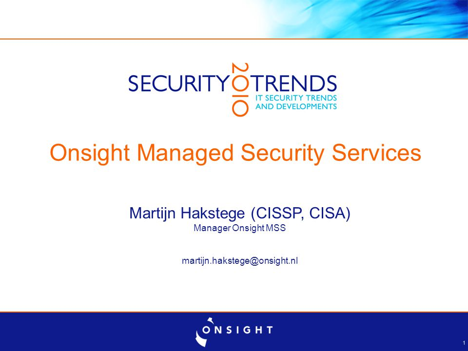 Agenda Over Onsight De Managed Security Paradox Onsight MSS