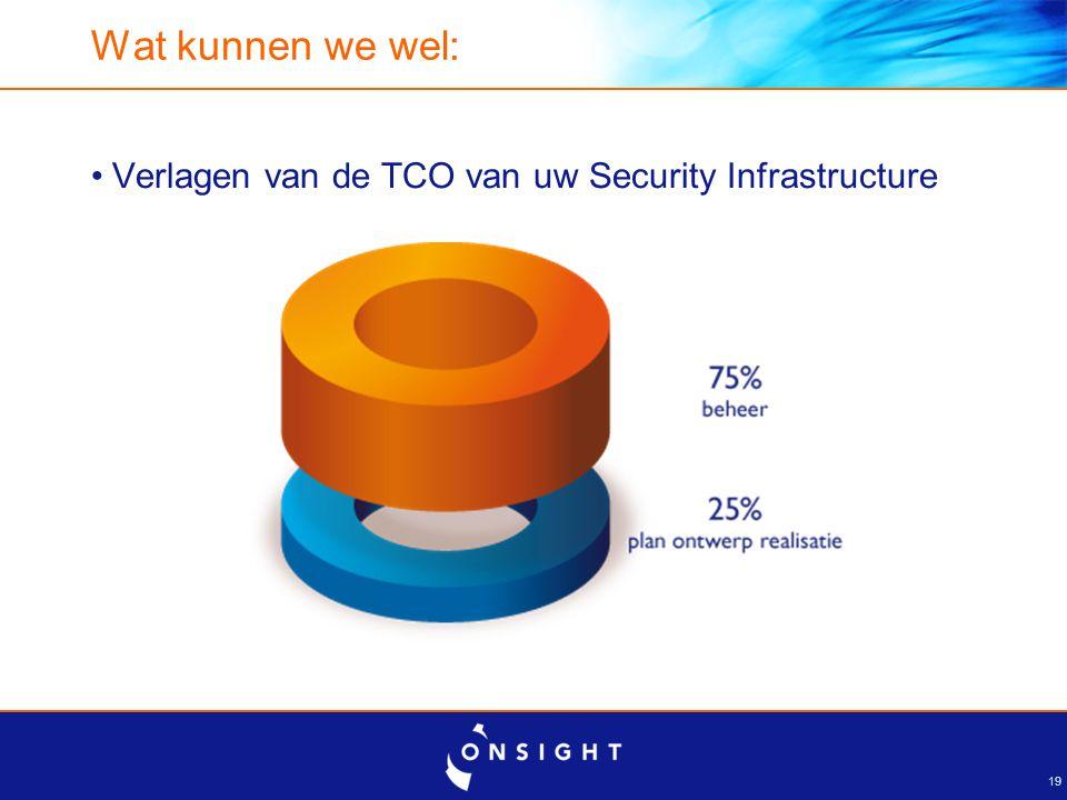Wat kunnen we wel: Uw organisatie 'ontzorgen' op het gebied van security beheer. Ontwerpen. Implementeren.