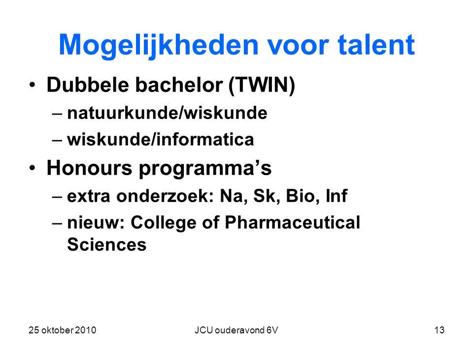 Mogelijkheden voor talent