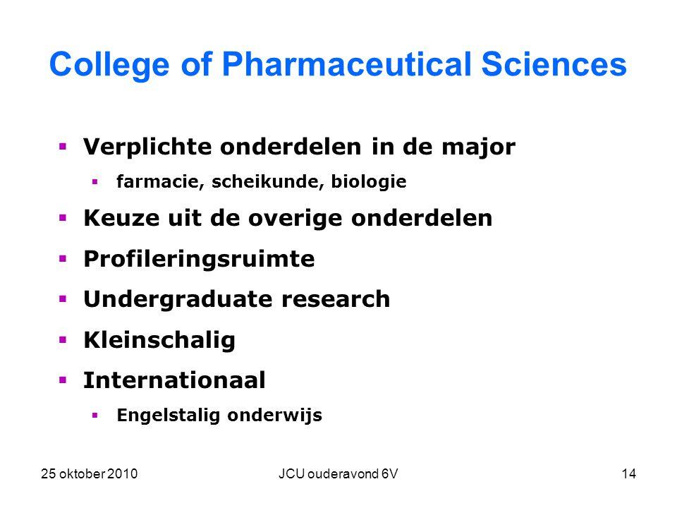 College of Pharmaceutical Sciences