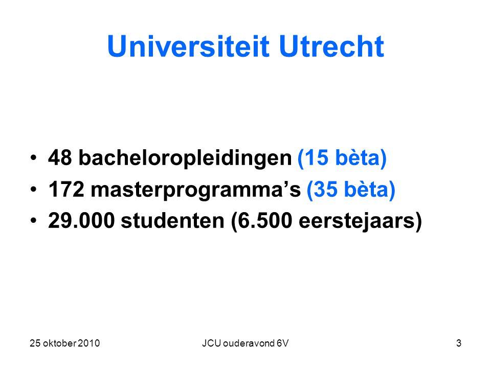 Universiteit Utrecht 48 bacheloropleidingen (15 bèta)