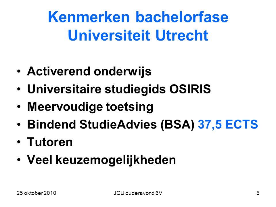 Kenmerken bachelorfase Universiteit Utrecht