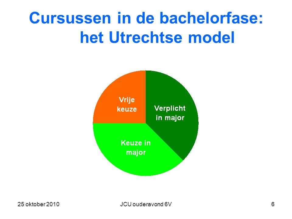 Cursussen in de bachelorfase: het Utrechtse model