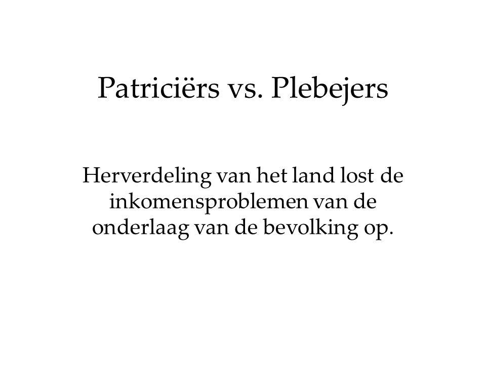 Patriciërs vs. Plebejers