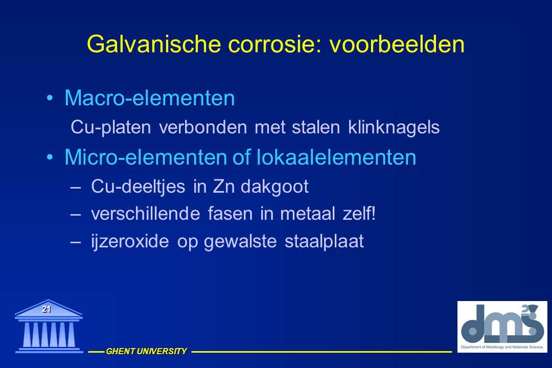 Galvanische corrosie: voorbeelden