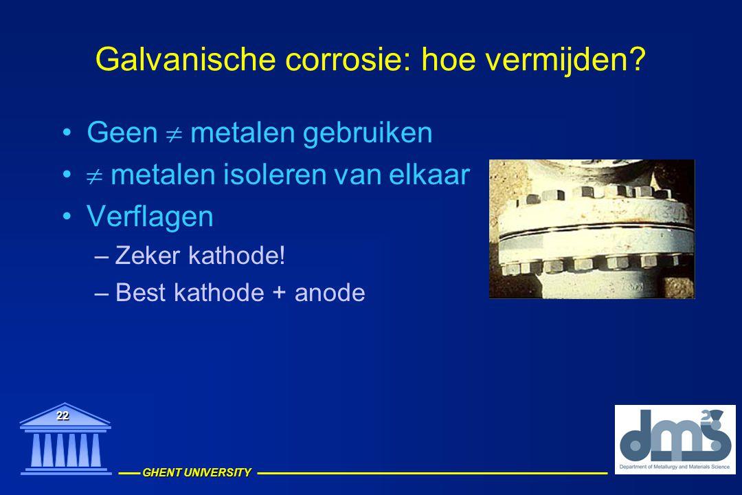 Galvanische corrosie: hoe vermijden