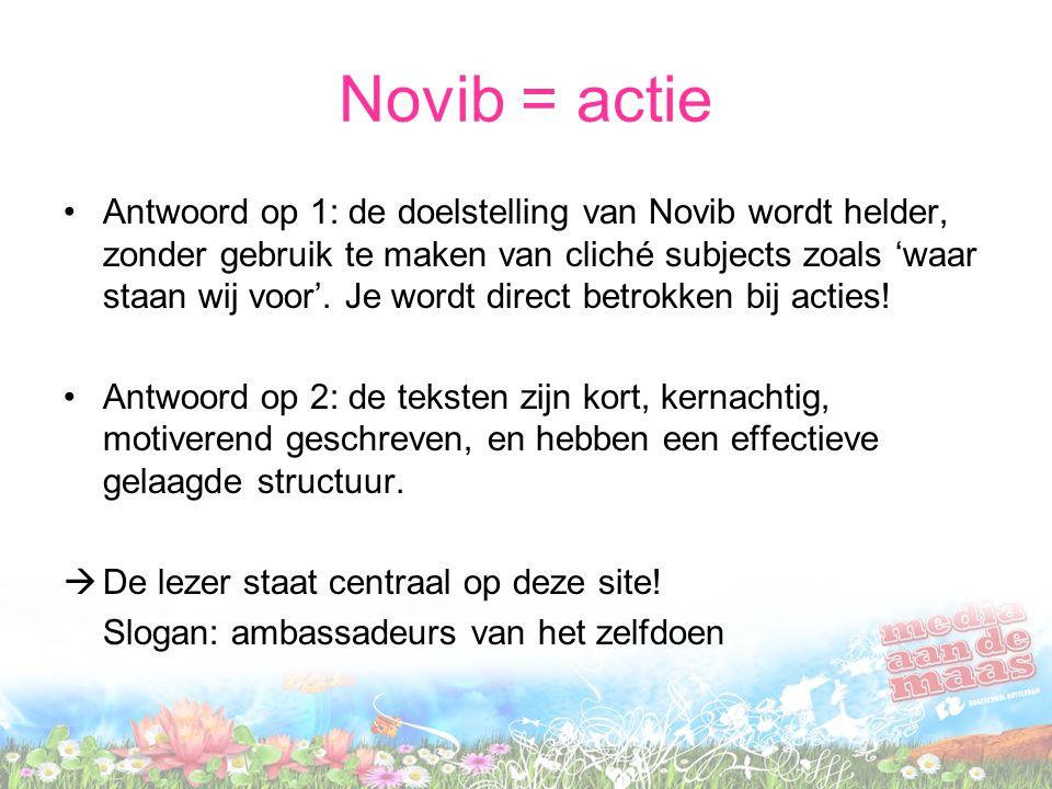 Novib = actie