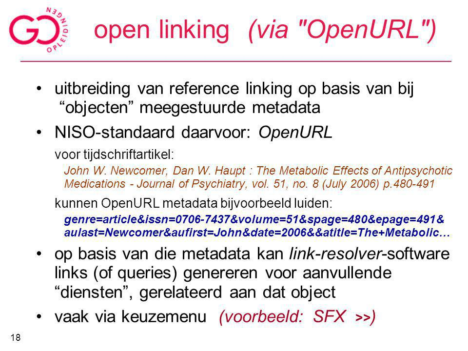 open linking (via OpenURL )‏