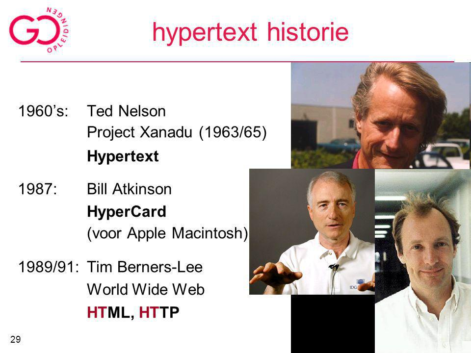 hypertext historie 1960's: Ted Nelson Project Xanadu (1963/65)