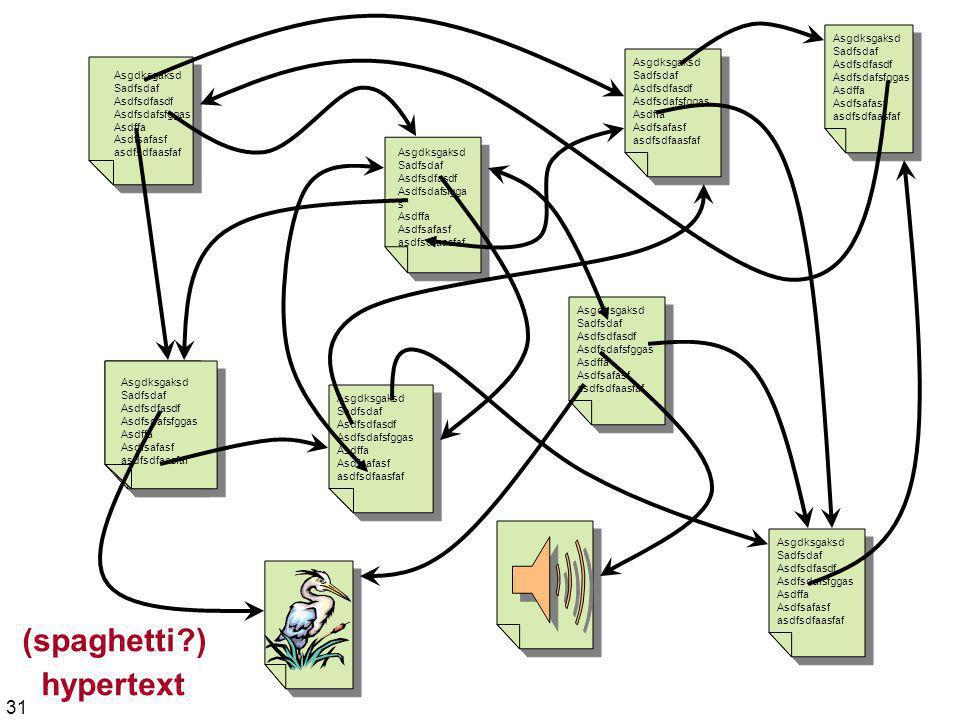 (spaghetti ) hypertext