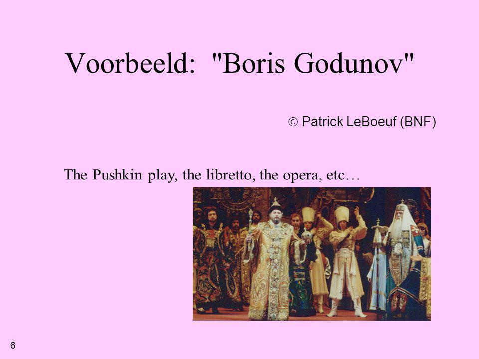 Voorbeeld: Boris Godunov