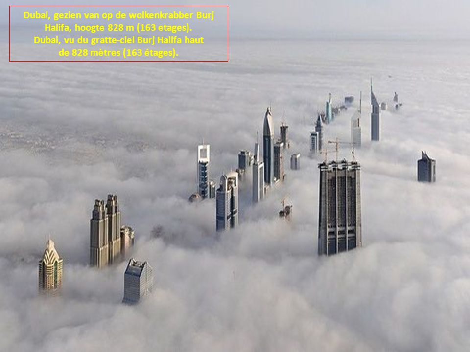 Dubai, vu du gratte-ciel Burj Halifa haut