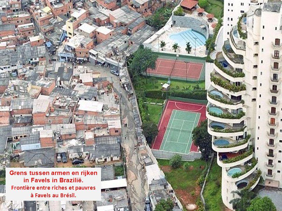 Grens tussen armen en rijken Frontière entre riches et pauvres