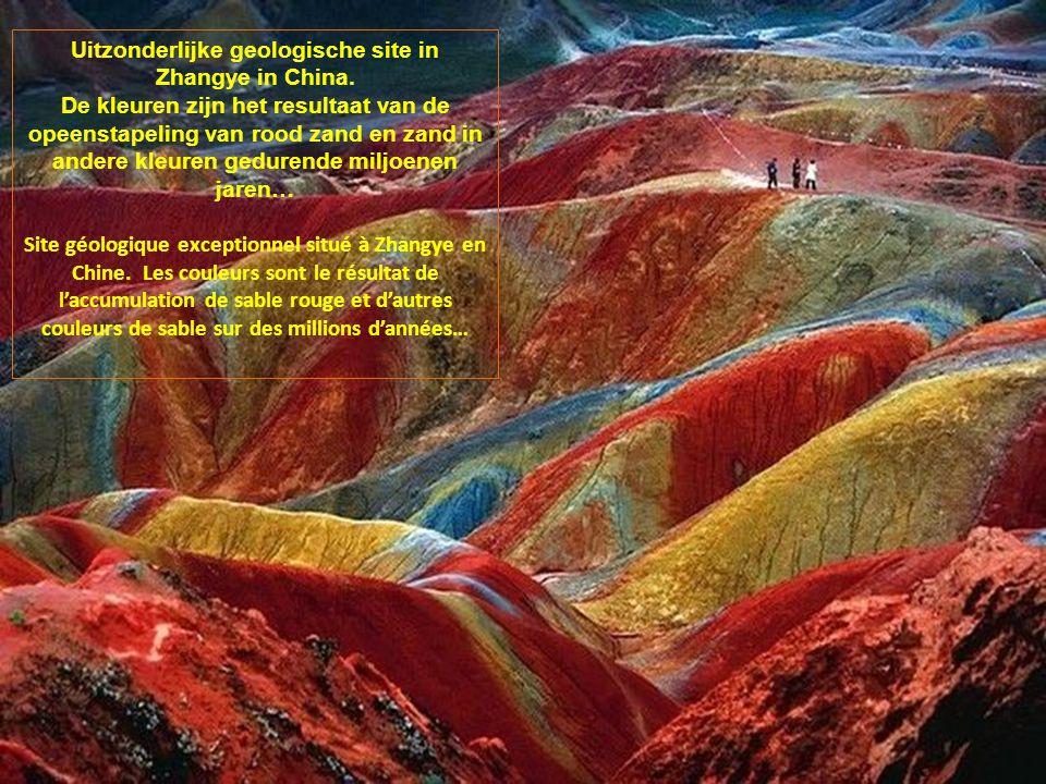 Uitzonderlijke geologische site in Zhangye in China.