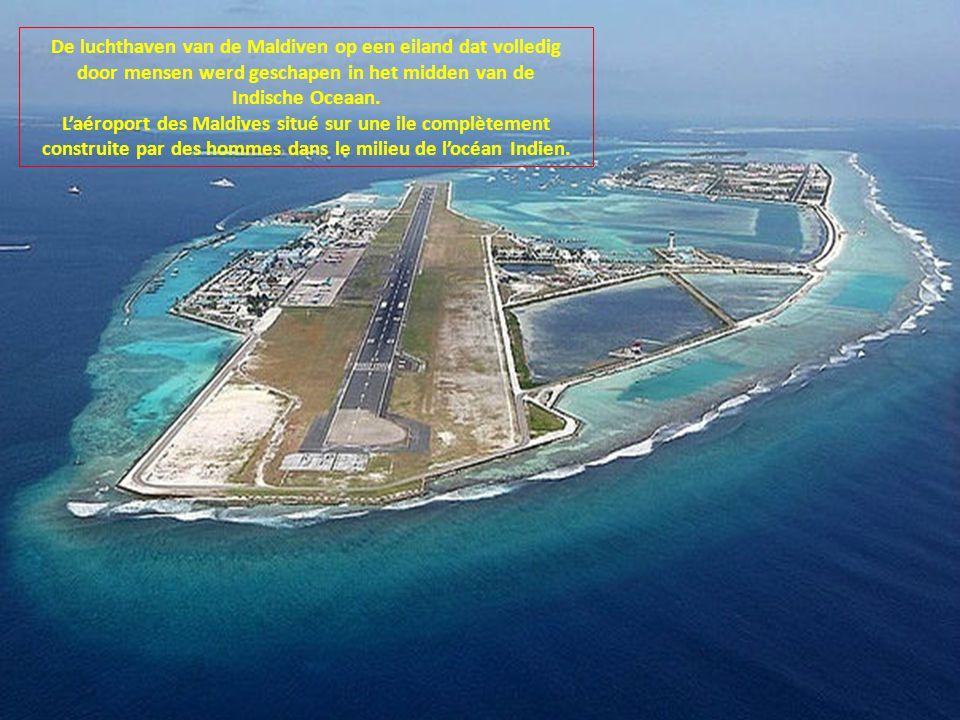 L'aéroport des Maldives situé sur une ile complètement