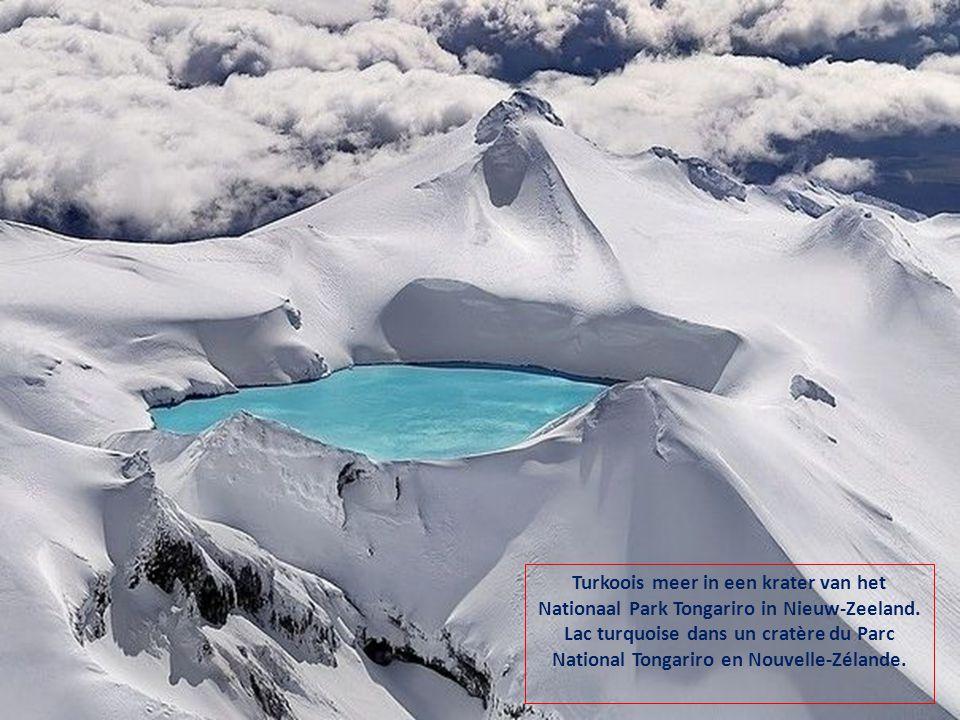 Turkoois meer in een krater van het Nationaal Park Tongariro in Nieuw-Zeeland.