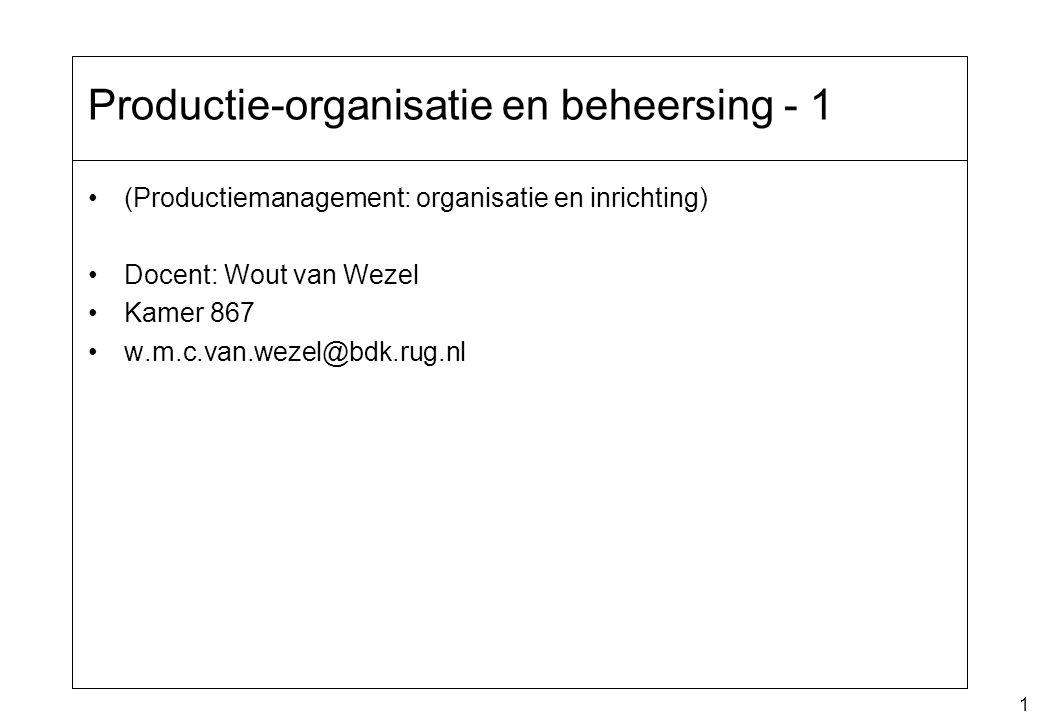 Productie-organisatie en beheersing - 1