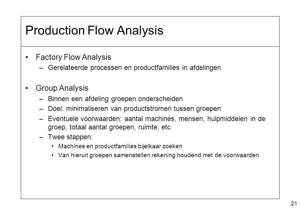Production Flow Analysis