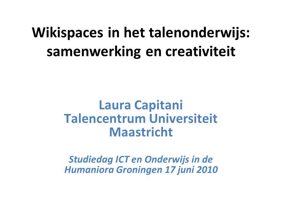 Wikispaces in het talenonderwijs: samenwerking en creativiteit