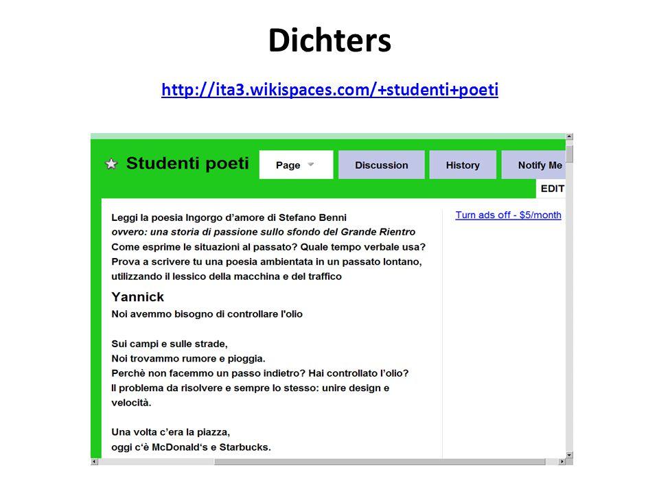 Dichters http://ita3.wikispaces.com/+studenti+poeti