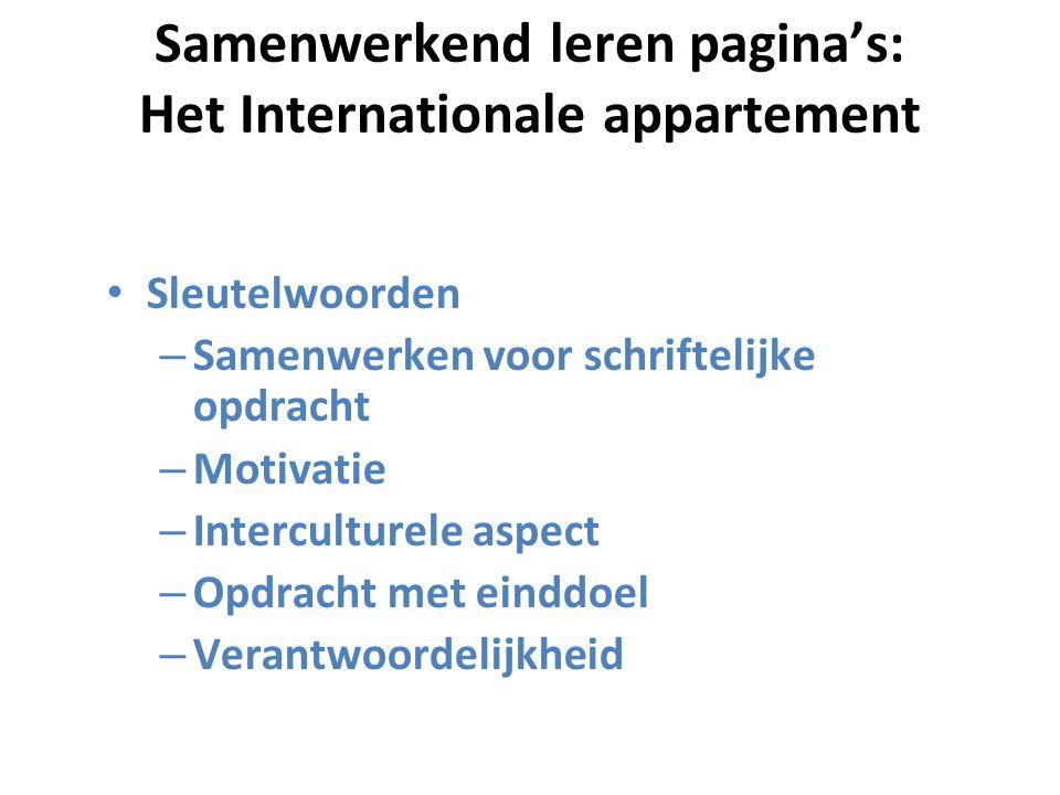 Samenwerkend leren pagina's: Het Internationale appartement