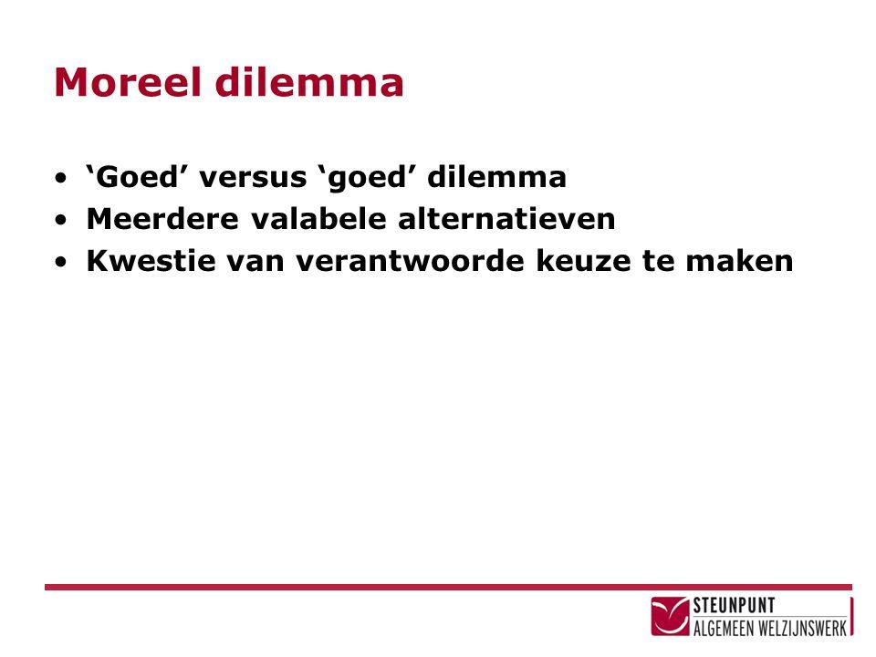 Moreel dilemma 'Goed' versus 'goed' dilemma