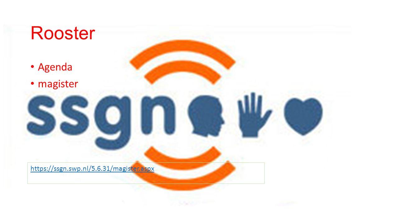 Rooster Agenda magister https://ssgn.swp.nl/5.6.31/magister.aspx